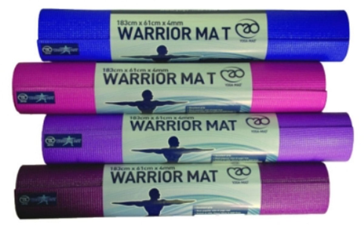 Amazon.com : Yoga Mad Warrior Mat - Pink : Sports & Outdoors