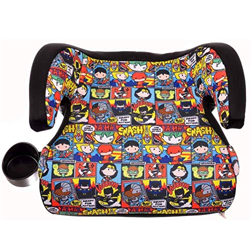 KidsEmbrace Backless Booster Car Seat, DC Comics Justice League Chibi Superheroes