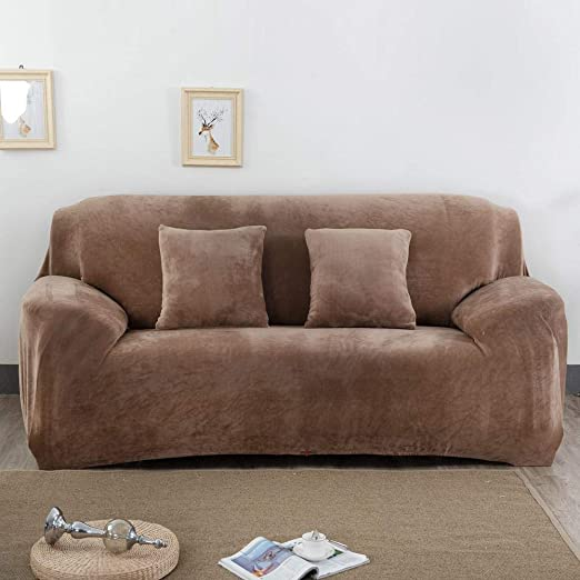 LayOPO - Funda de sofá para 3 Fundas de cojín, de Terciopelo ...