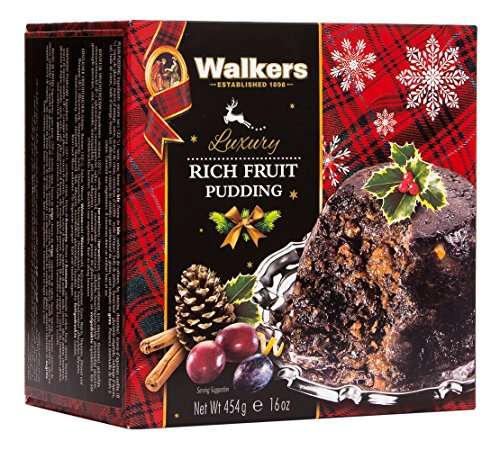 Walkers Shortbread Rich Fruit Pudding, 16-Ounce Box (English Fruit)