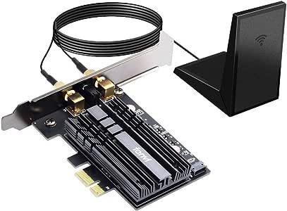 fenvi PCIe WiFi Adapter Card WiFi 6 AX200 PCIe Wi-Fi 6 802.11ax Card PC Internet Network Wireless PCI Card Next-Gen MU-MIMO 2x2 2.4GHz 5GHz BT 5.0 3000Mbps 11AX Miracast vPro AX200NGW OFDMA WiFi nic