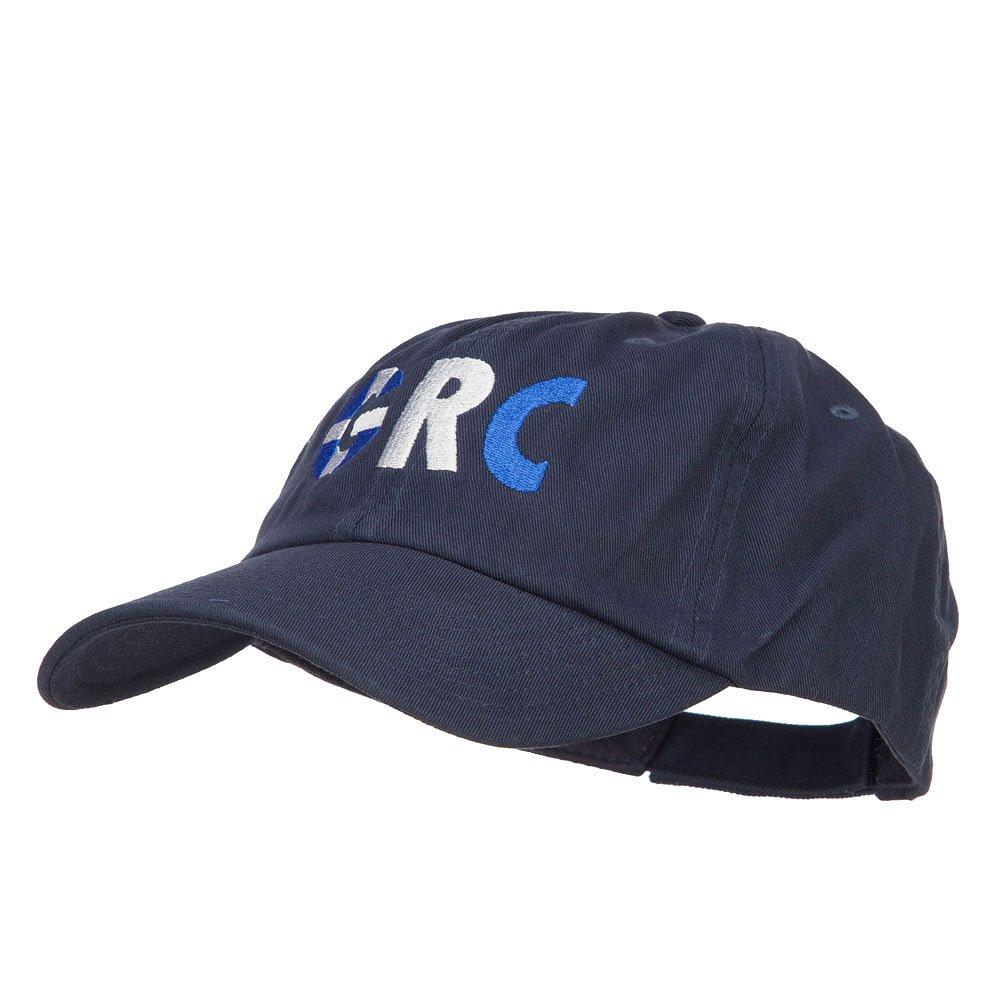e4Hats.com Greece GRC Flag Embroidered Low Profile Cap