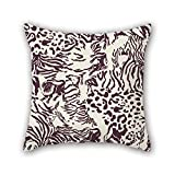 Tenis Nike Best Deals - NICEPLW leopard cushion covers 20 x 20 inches / 50 by 50 cm best choice for boys,home office,boy friend,pub,christmas,bar with 2 sides