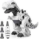 Beestech LED Walking Robot Dinosaur Toy, Take Apart Dinosaur Toys for 3, 4,5,6 Year Old Boys with Roar Sound, Colorful…