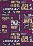 Christmas Wishes Rolled Handmade Christmas Gift Wrap Paper (Purple)