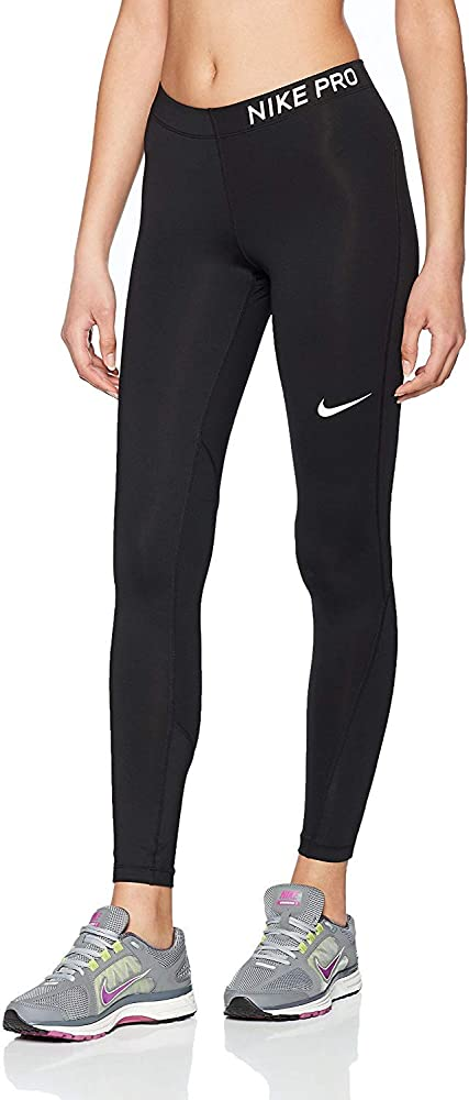 cd30fcf73a0ca Amazon.com: Nike Women's Pro Tights (X-Small, Black/Black/White ...