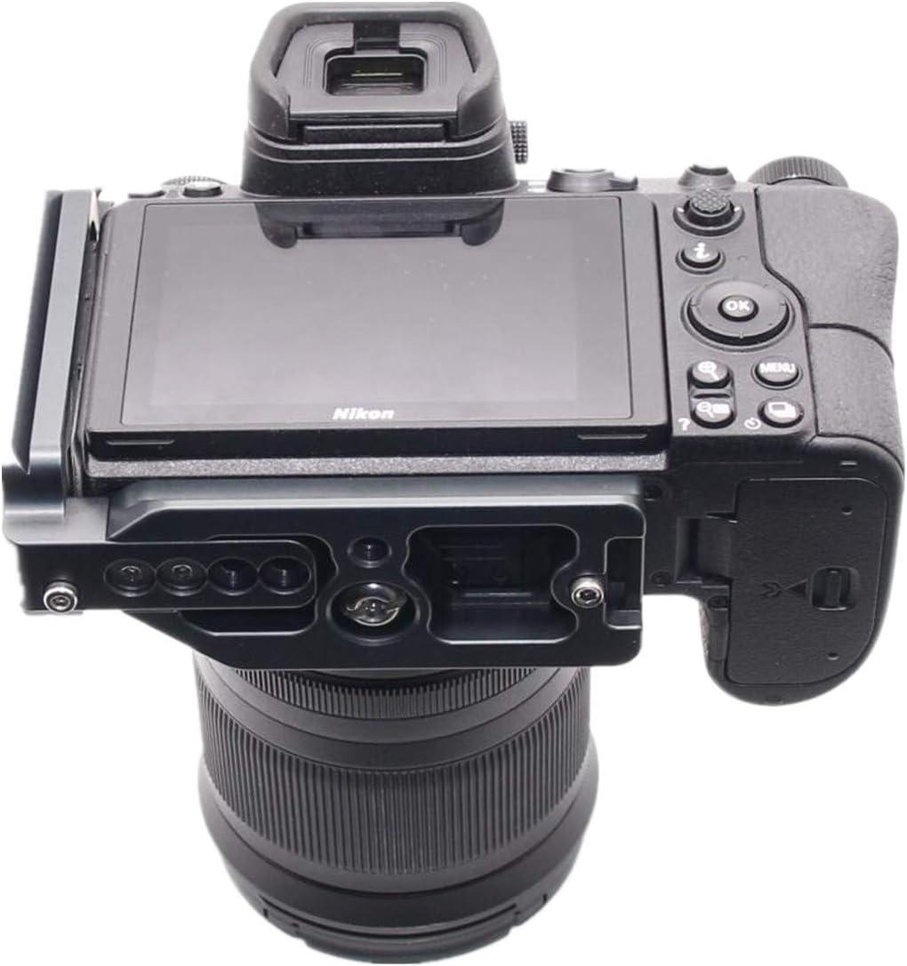 PU Funda de cuero para la c/ámara media para Nikon Z7 Funda protectora de la bolsa Funda inferior protectora para Nikon Z7 con correa