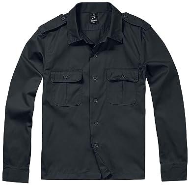 Brandit Hombres Camisa 1/1 Manga Larga Negro tamaño 5XL: Amazon.es: Ropa y accesorios