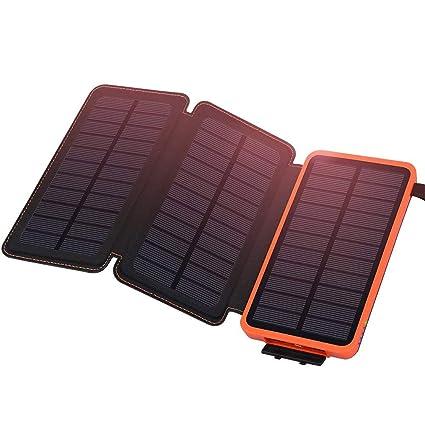 YFQH Batería Solar 24000mAh Cargador portátil a Prueba de ...