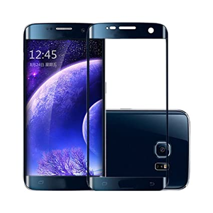 Cell loid Tempered Curved Glass for Samsung Galaxy S7 Edge   Black Mobile Accessories