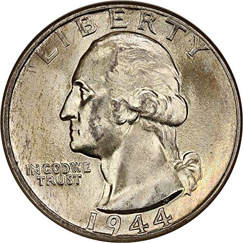 1944 P Washington Quarters (1932-98) Quarter MS66 NGC