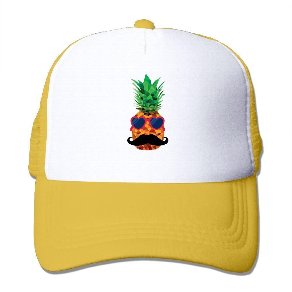 3cb2b06f Funny Caps Beard Heart Sunglasses Pineapple Lover Printing Unisex Adult  Vintage Mesh Trucker Cap Hat Snap Back Meshback Cap Adjustable Yellow:  Amazon.co.uk: ...