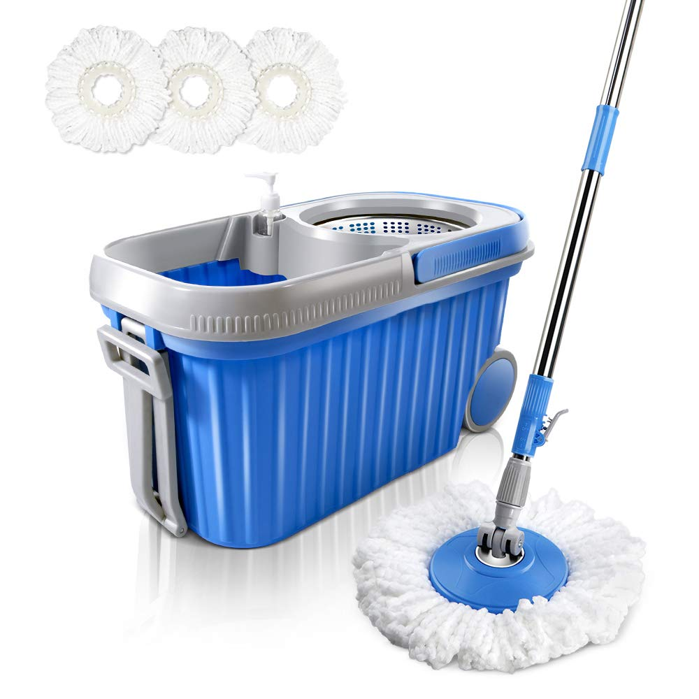Masthome 3 Pack Replacement Microfiber Mop Heads Suit For Masthome 360°Spin Magic Mop(In Addition To The 4L Spin Mop)