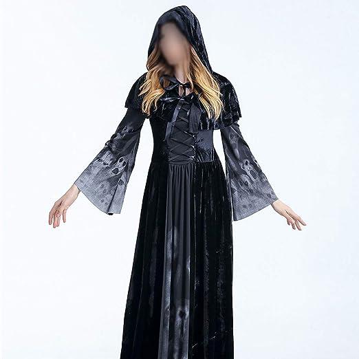 ZHFEL Disfraz Halloween Esqueleto, Bruja Novia Fantasma Juego De ...
