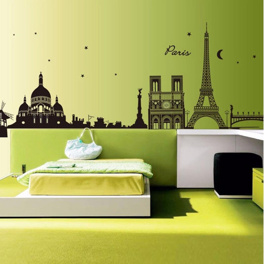 Amazon.com : Ussore 1PC Eiffel Tower Removable Decor Environmentally ...
