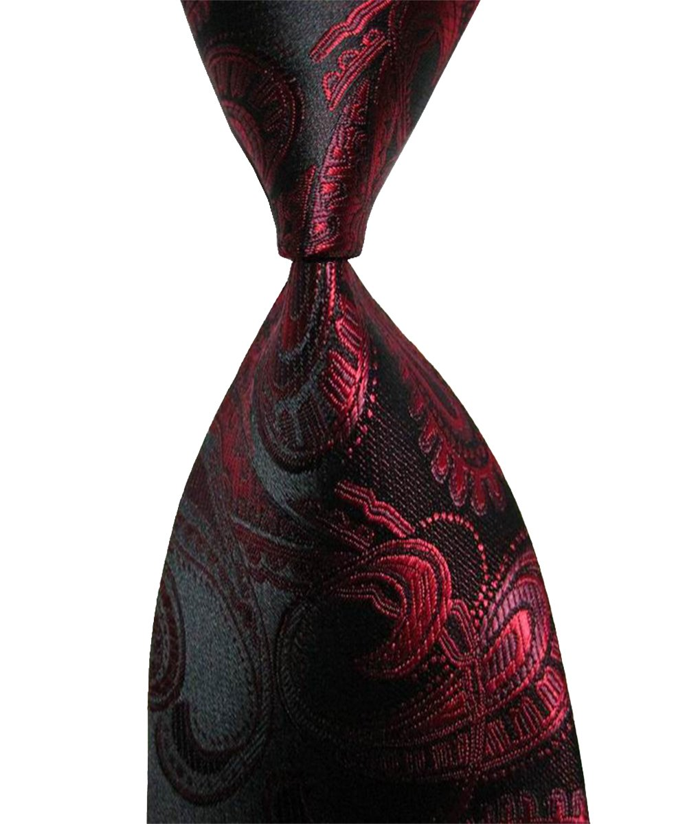 Wehug Lot 6 PCS Men's Ties 100% Silk Tie Woven Necktie Jacquard Neck Ties style003 by Wehug (Image #5)
