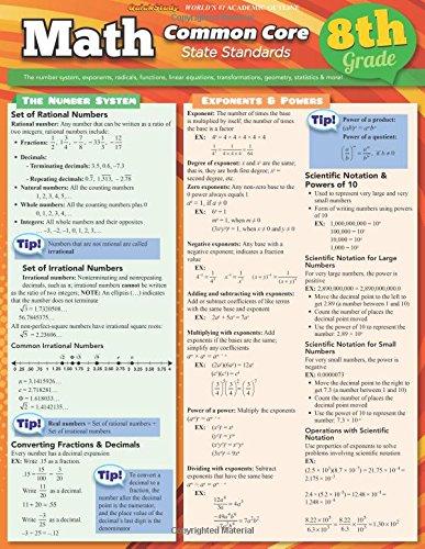 Amazon.com: Math Common Core 8Th Grade (Quick Study: Academic ...
