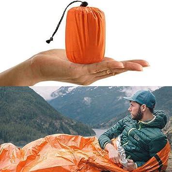 SDGDFXCHN Notschlafsack /Überlebensschlafsack PE Aluminiumfolie Leichte wasserdichte Thermotasche Notfalldecke f/ür Outdoor Camping und Wandern