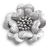 81stgeneration -Karen Hill Tribe Beaux fleur pur Argent 999 hanfdcraft pendentif collier rose