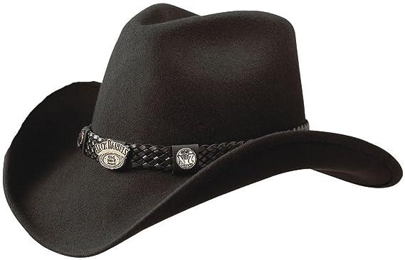 Jack Daniel s Hats Crushable Water Repellent Wool Western Cowboy Hat ... 9c8db69d30ee
