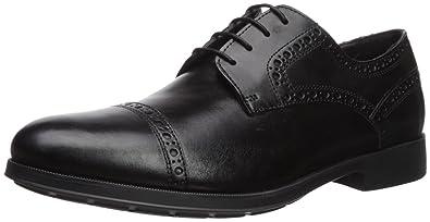 e81677d295 Geox Men's HILSTONE 1 Oxford Black 41.5 M EU (8.5 ...