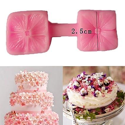 Wokee Molde de silicona para tartas, diseño de pétalos de flores, para decoración de