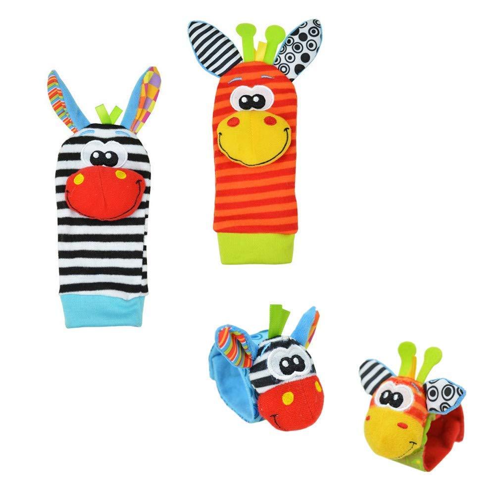 LAAT Bébé Chaussettes Animal Bande de Poignet Bébé Très Mignonne Confortable Il y a Des Cloches à l'intérieur (2)
