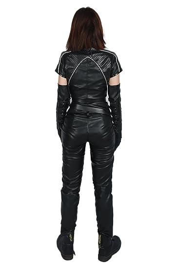 Amazon.com: Black Canary Costume Cosplay Cool Full Set Black ...