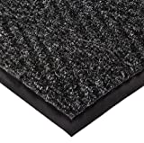 NoTrax 105 Chevron Entrance Mat, for Lobbies and Indoor Entranceways, 4' Width x 6' Length x 5/16'' Thickness, Charcoal