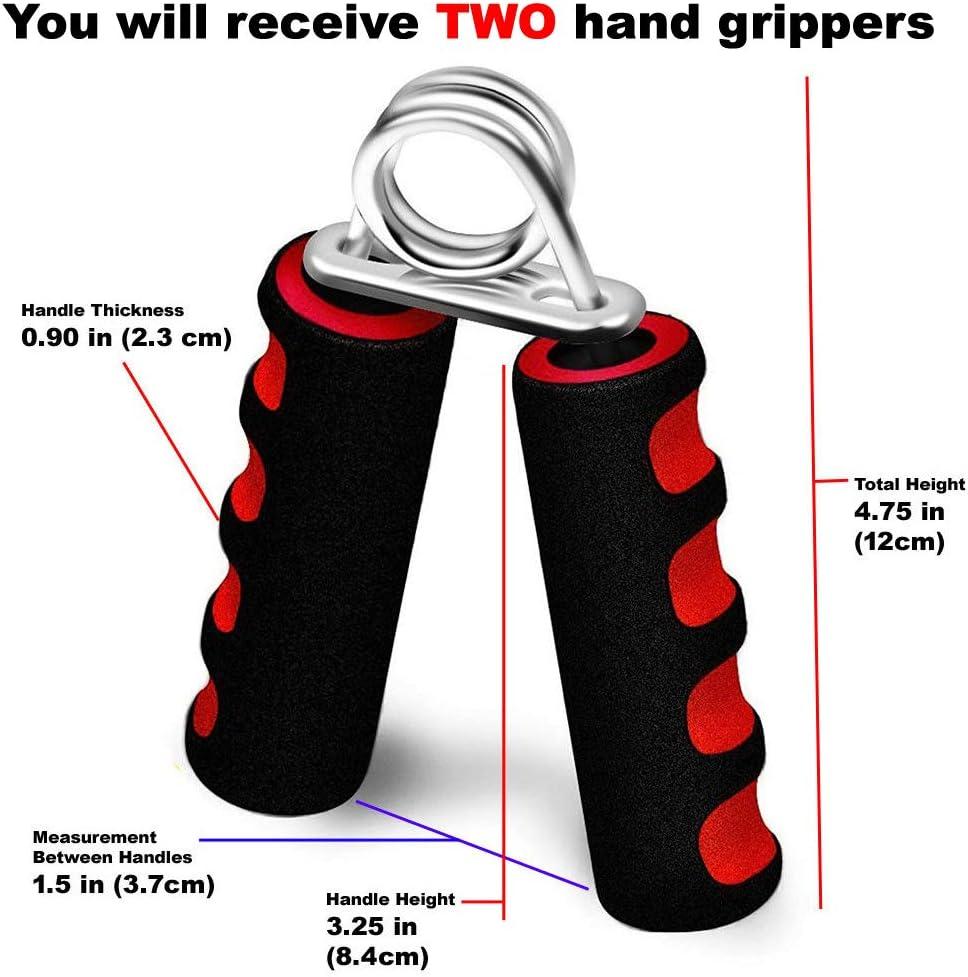 fengzong Poign/ées Lourdes r/églables Main Gripper Gym Power Fitness Main Exerciseur Grip Poignet Avant-Bras Force Training Noir et Noir