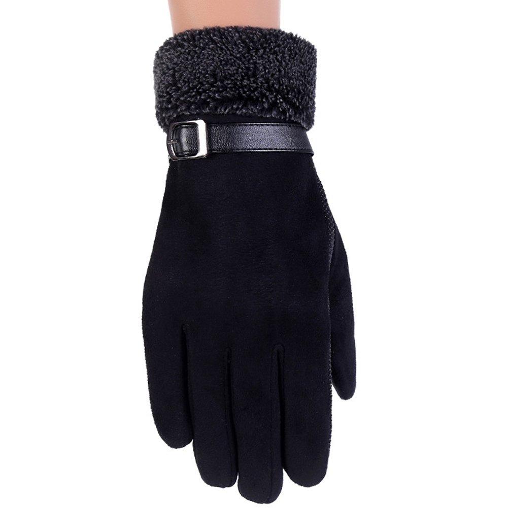 ENCOCO Men Winter Thicken Warm Gloves Outdoor Antiskid Snow Driving Touchscreen Texting Gloves