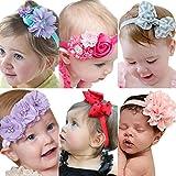 Roewell Baby Elastic Hair Hoops Headbands and Girl's Fashion Soft Headbands