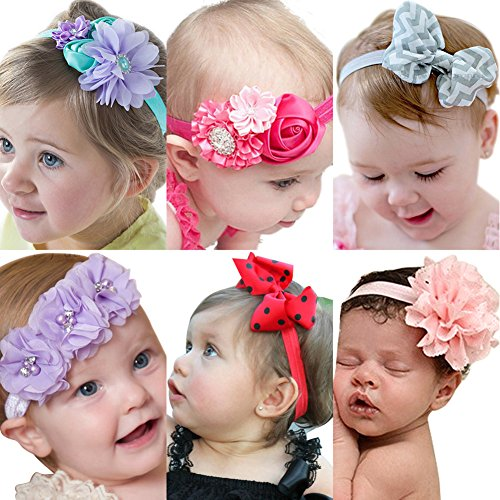 Waste Material Costumes (Roewell Baby Elastic Hair Hoops Headbands and Girl's Fashion Soft Headbands)