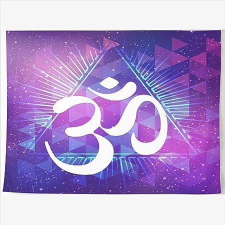 HomeOutlet Tapiz de 80 x 60 Pulgadas Mandala Ohm símbolo Indio ...