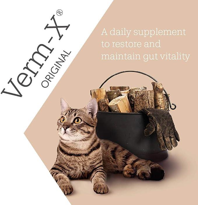 Verm-X - Golosinas para el Cuidado intestinal de los Gatos, 60 g ...