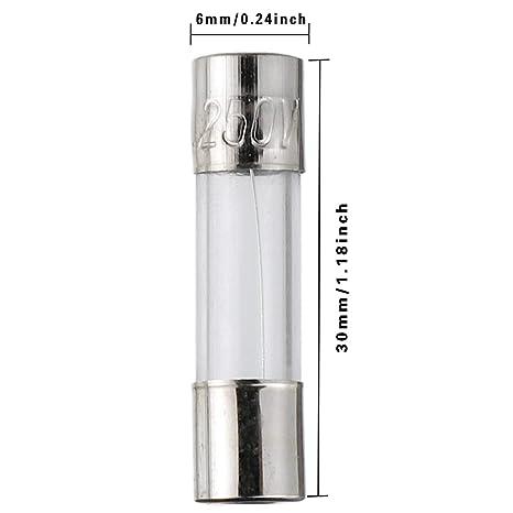 6mm X 30mm-F7AL250V golpe vidrio fusibles 7 Amp 250V Fast rápida