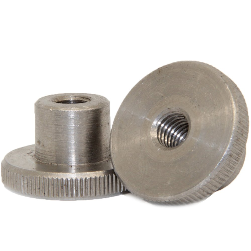 Knurled nuts, 10 pieces, M8, high shape, DIN 466, stainless steel A1 dely trade