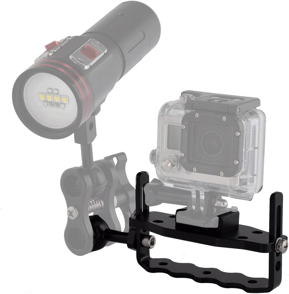 Diving Flash Bracket Handheld Camera Photo Video Mount Scuba Stabilizer Rig