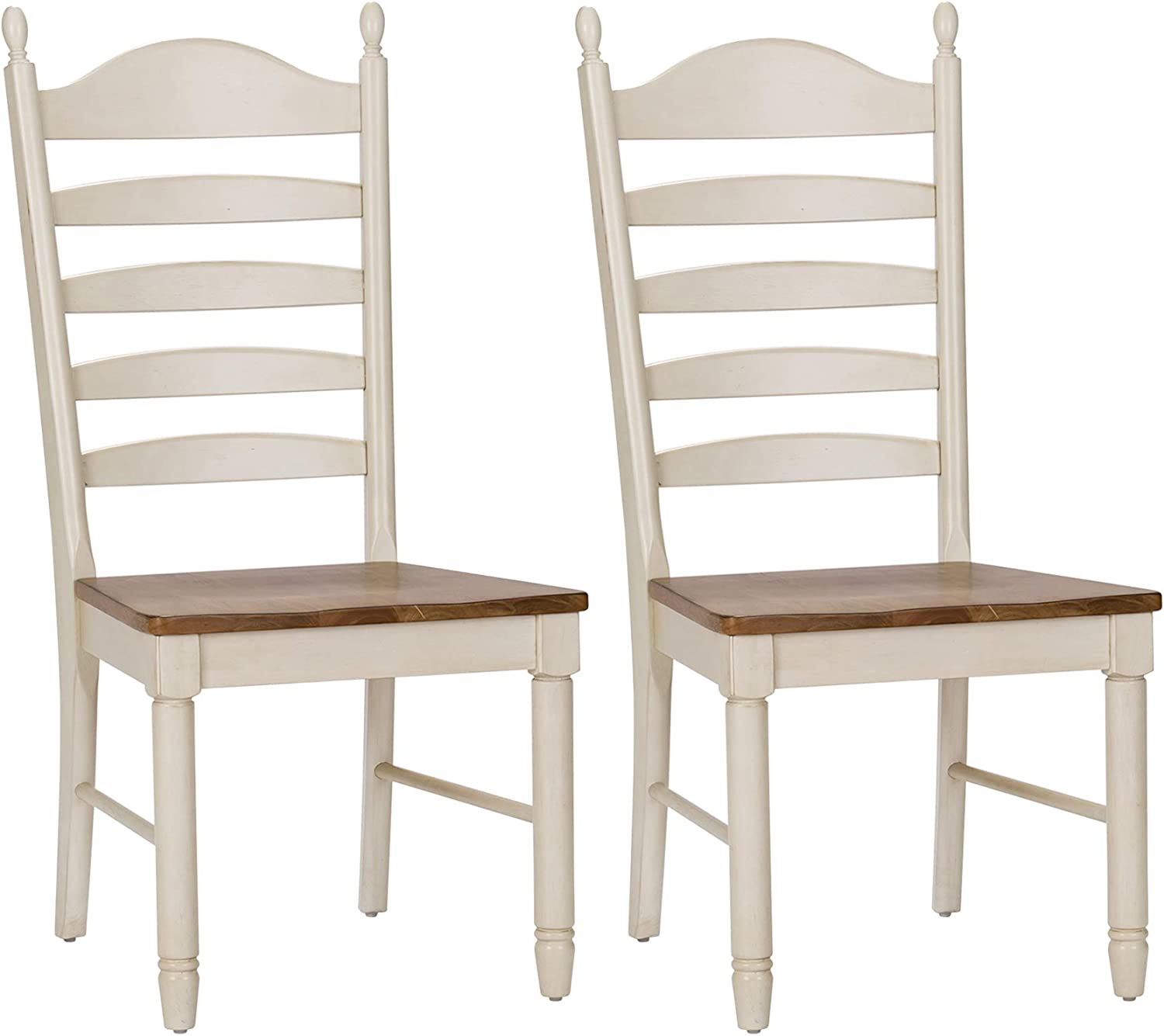 Liberty Furniture Industries Springfield (Set of 2) Ladder Back Side Chair (RTA), W19 x D23 x H42, White