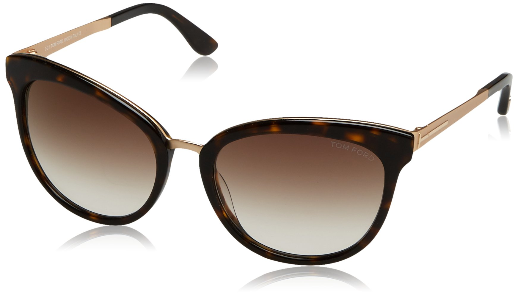 Tom Ford Emma 52G Tortoise / Gold Emma Cats Eyes Sunglasses Lens Category 2 Siz