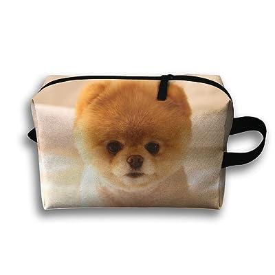 Good Michgton Cosmetic Bag Cute Baby Pomeranian Dog Girl Fashion 3d