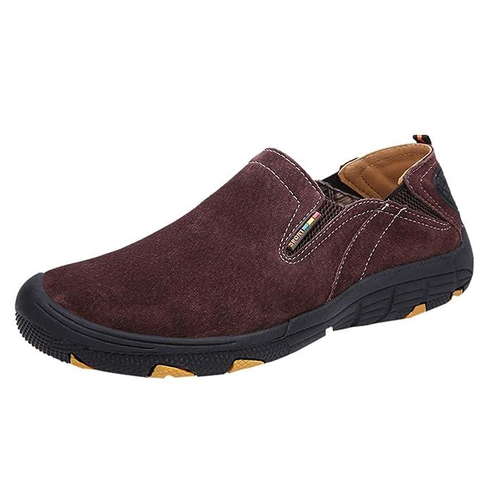 Herren Sneaker Lederschuhe,Sunday Männer Freizeitschuhe Turnschuhe Outdoorschuhe Halbschuhe Walkingschuhe Loafer Flats 39-48