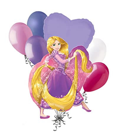 Amazon 7 Pc Rapunzel Disney Princess Balloon Bouquet Happy Birthday Party Decoration Toys Games