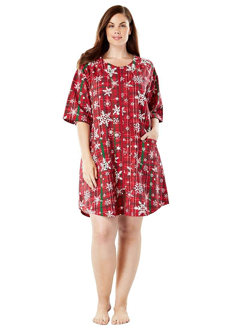 Dreams & Co. Women's Plus Size Long French Terry Robe