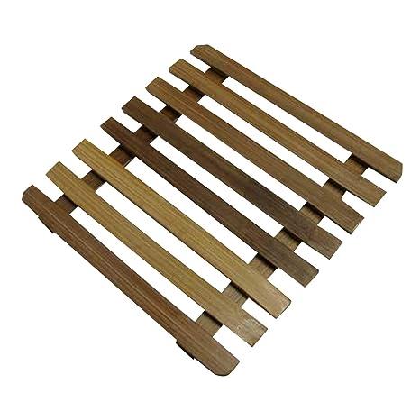 Bambú 17,5 cm – Salvamanteles para ollas, sartenes, mesa Posavasos Debajo de