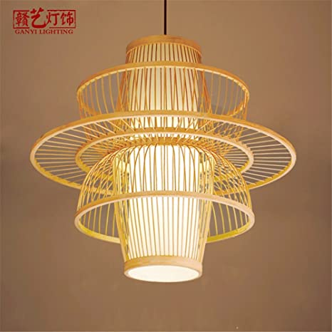 XQK Minimalista moderno lampadario di arti di bambù lampadario ...