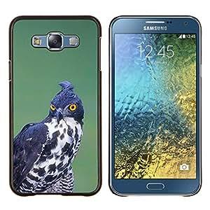 EJOOY---Cubierta de la caja de protección para la piel dura ** Samsung Galaxy E7 E700 ** --la caza de aves rapaces negro ornitología blanco