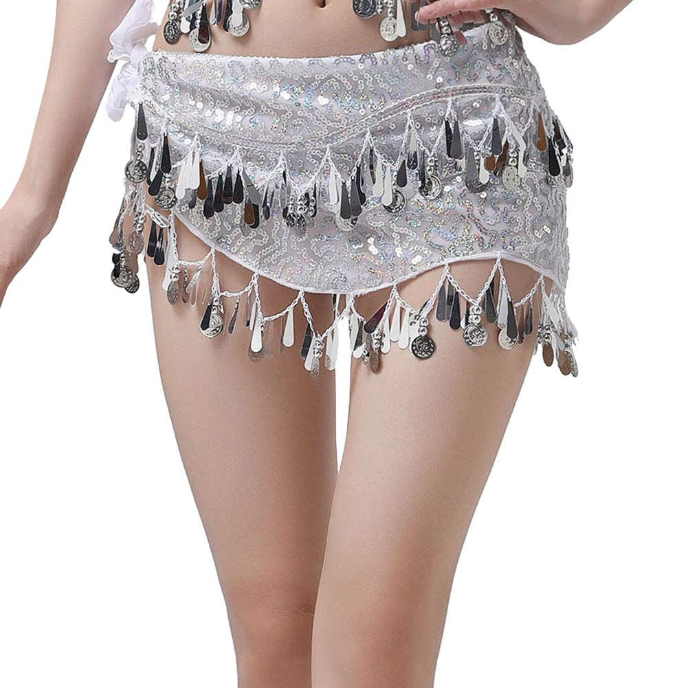 Dance Costumes for Women Girls Ladies, Belly Dance Hip Scarf or Belly Dance Top Bras Chest Pad - Coin/Tassel