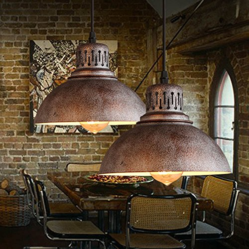 Industrial Chandelier Light Lamp Shade Sconces Iron Pendant Loft Light Fixtures (Iron Chandelier Shade)