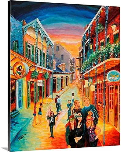 Party On Bourbon Street Canvas Wall Art Print